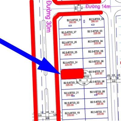 bán biệt thự Thanh Hà đường 30m B2.5 - BT03 - Ô số 23