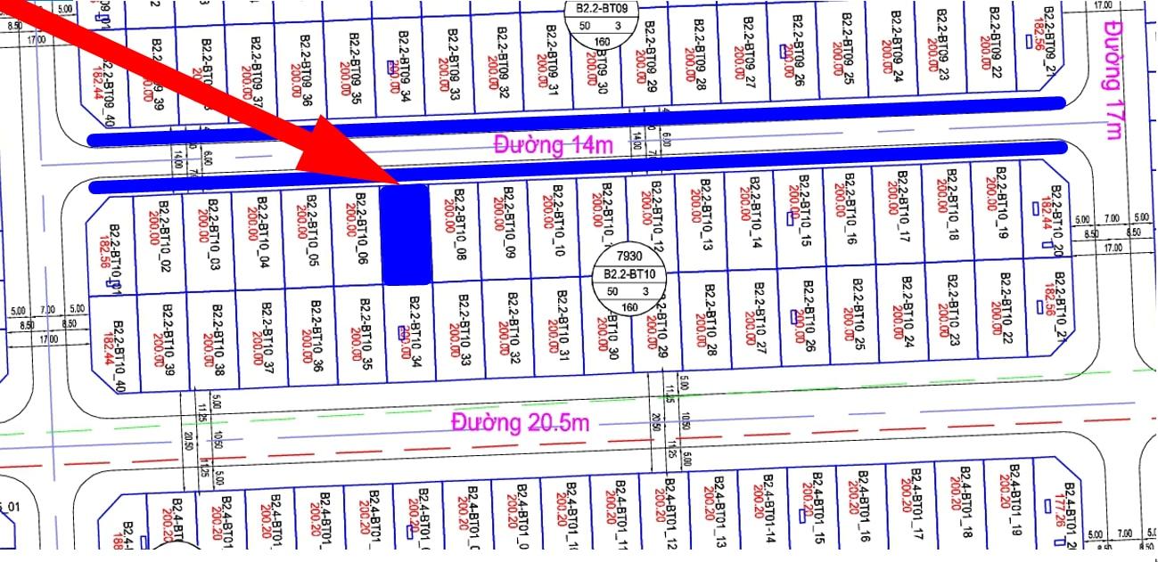 Bán biệt thự Thanh Hà đường 14m B2.2 - BT10 - Ô số 7