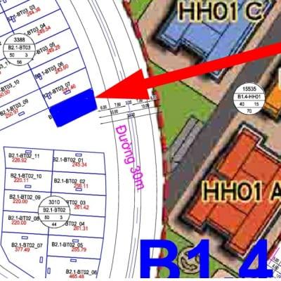 bán biệt thự Thanh Hà đường 30m B2.1 - BT03 - Ô số 8